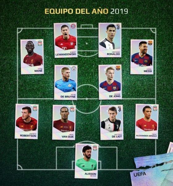 Messi y CR7 en el once ideal de la UEFA. Foto: UEFA