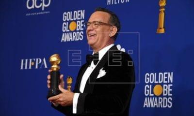 Tom Hanks recibe homenaje en los Globos de oro 2020
