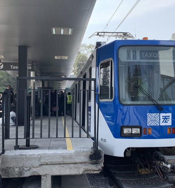 Reanuda servicio Tren Ligero, más rápido, de Taxqueña al Estadio Azteca