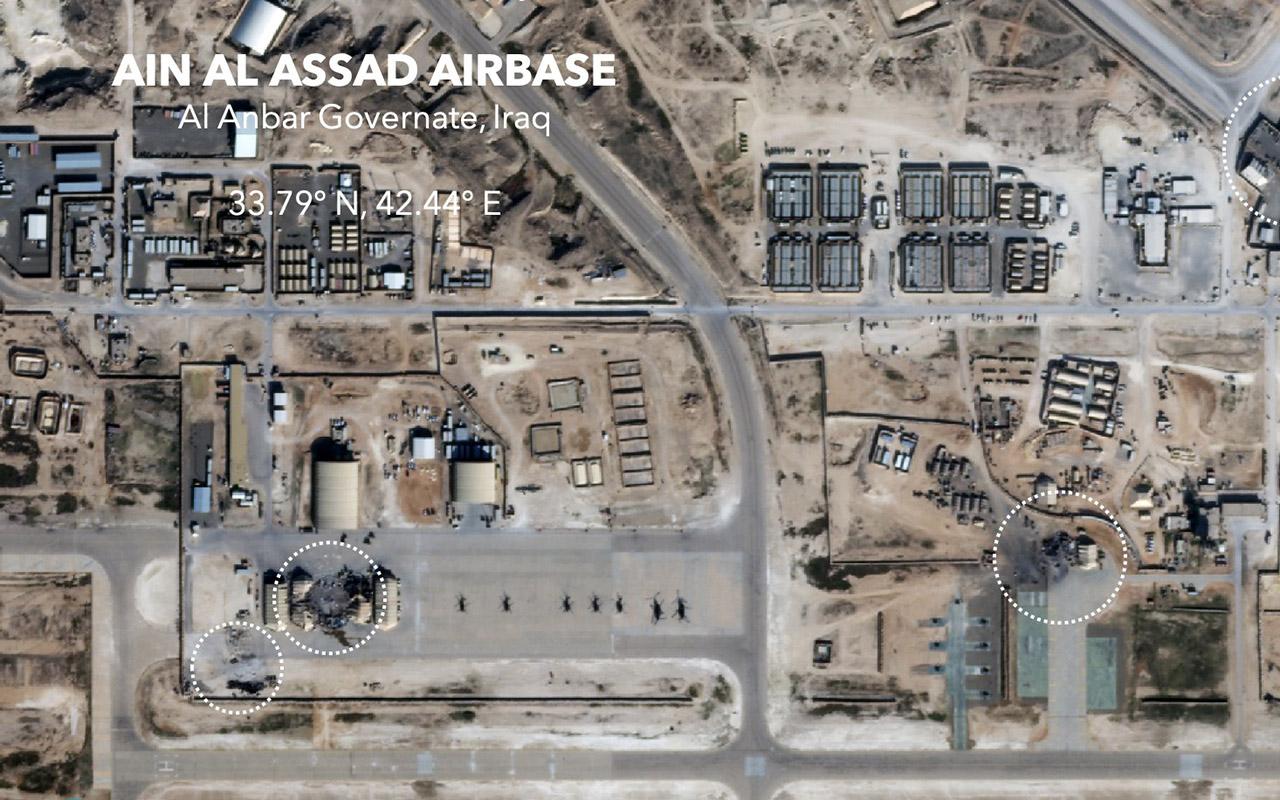 Impactan dos cohetes cerca de la embajada de EU en Bagdad