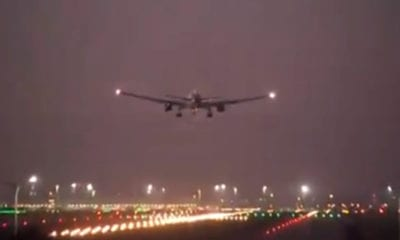 Avión pierde una rueda y aterriza con éxito en Madrid