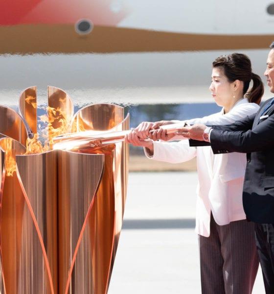 La llama olímpica llega a Japón. Foto: Twitter