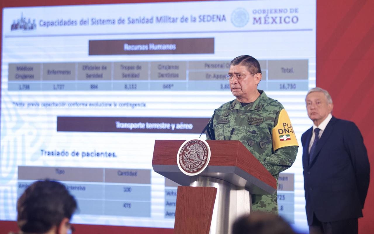 Habilitan hospitales militares para atención de Covid-19