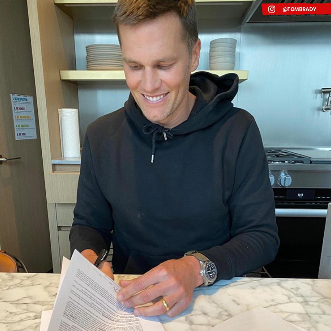 Bucaneros oficializa la contratación de Tom Brady. Foto: Twitter