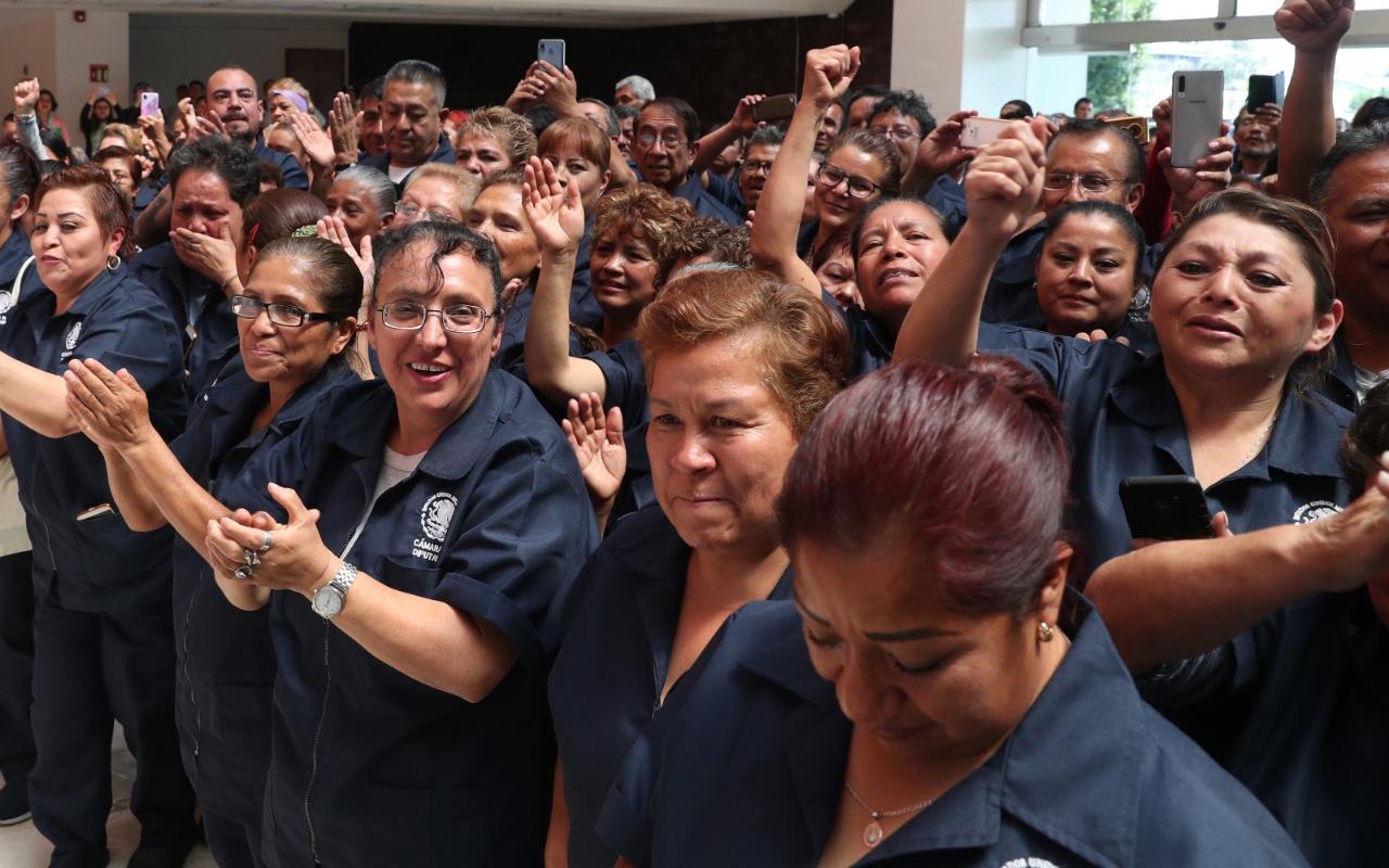 Hacen justicia a trabajadores de limpieza de la Cámara de Diputados