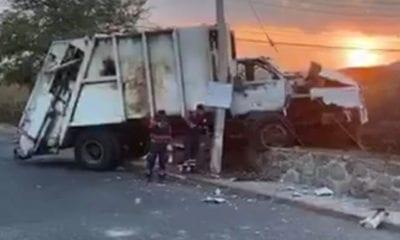 Reos de Morelos intentan fugarse dentro de camión de basura
