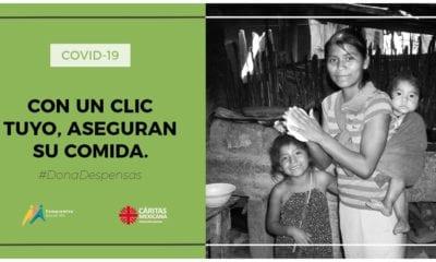 Cáritas México apoya a personas con escasos recursos