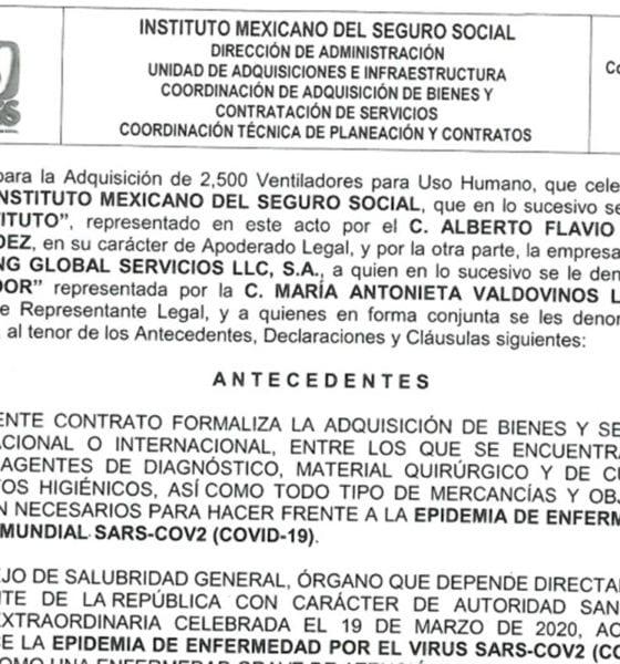 Denuncian irregularidades en la compra de ventiladores para Covid-19