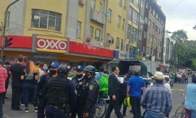 Balacera entre policías y ladrones en calles de Alcaldía Cuauhtémoc