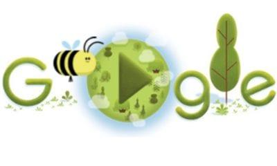 Google celebra a la abeja (Especial)