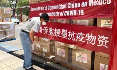 Empresas chinas donan equipos de protección a la Cruz Roja mexicana