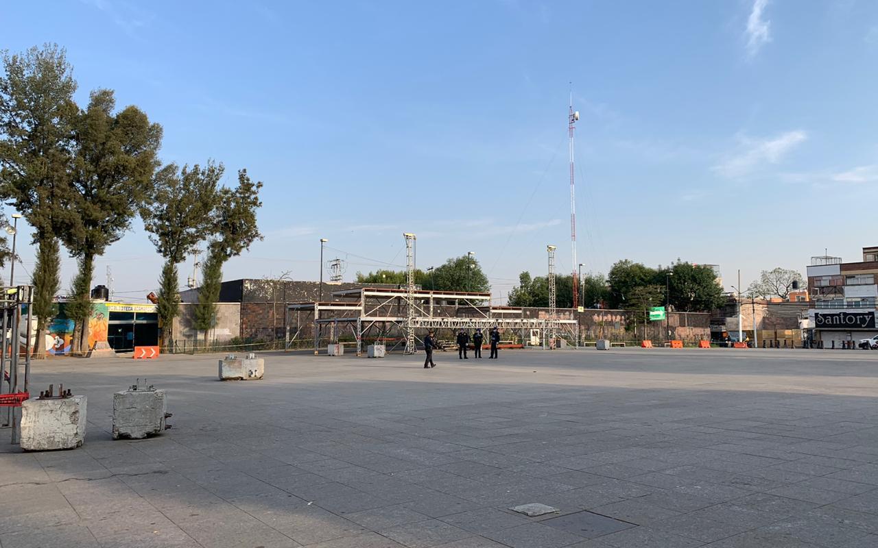 Jueves Santo en Iztapalapa sin gente