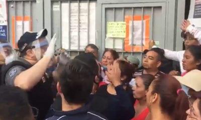 Golpes y empujones afuera del penal de Cuautitlán