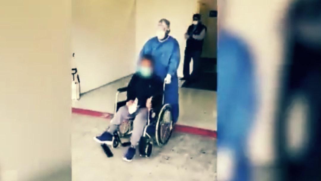 Dan de alta a paciente de Covid del Autódromo Hermanos Rodríguez. Foto: Twitter