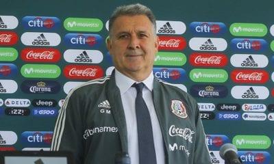 Gerardo Martino sin recibir golpe en el bolsillo; podría cancelarse los partidos del Tri. Foto: Twitter FMF