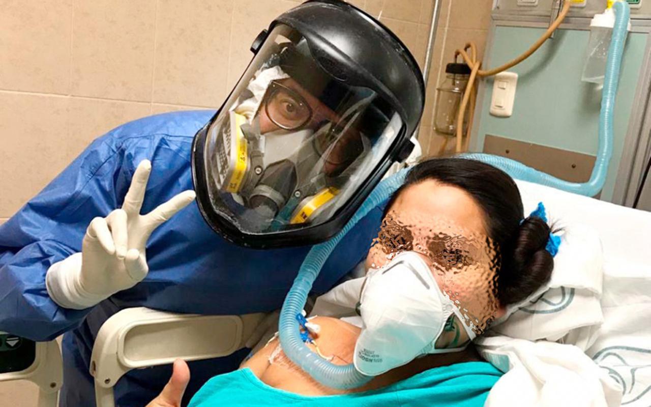 Mujer y su bebé sobreviven a Covid-19
