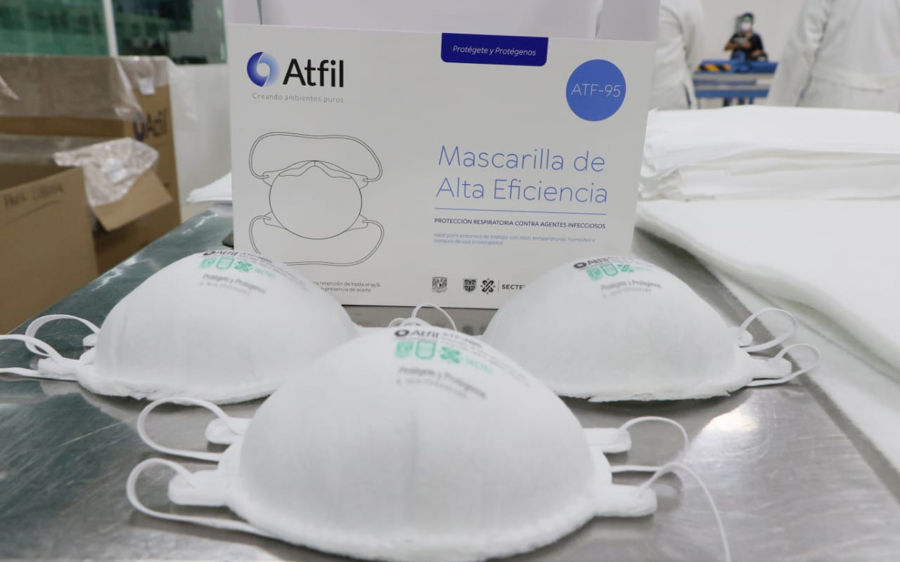 Inauguran fábrica que producirá 40 mil mascarillas N95 diarias