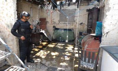 Catean casa en Iztapalapa donde desmantelaban autos robados