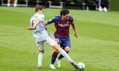 El desplante de Messi al auxiliar técnico del Barcelona. Foto: Twitter Barcelona