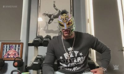 Rey Mysterio listo para reaparecer. Foto: Twitter WWE