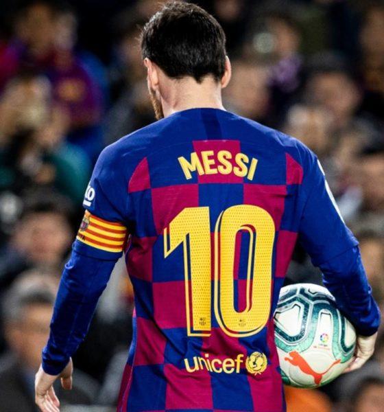 Se lesiona Lionel Messi; trabajó separado del grupo. Foto: Twitter Barcelona