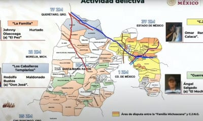 Cuatro cárteles se pelean la zona metropolitana del Valle de México