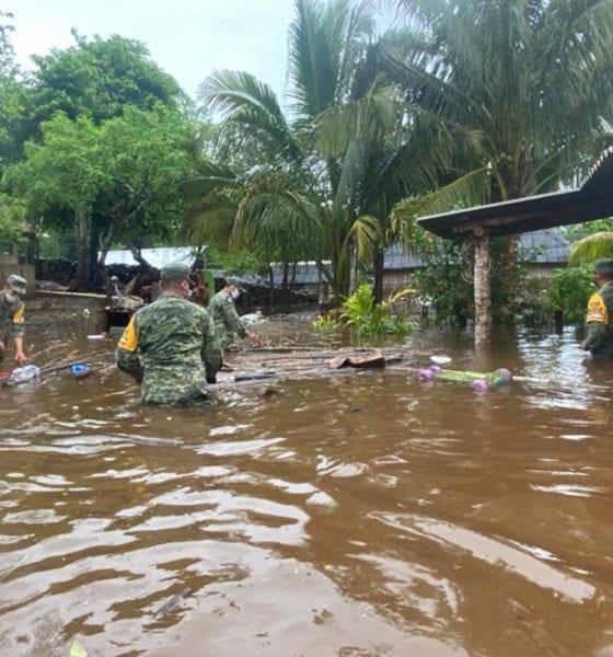 Más de 800 militares apoyan a familias afectadas por inundaciones