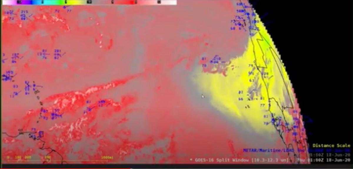 imagen de la UNAM, para observar el polvo africano