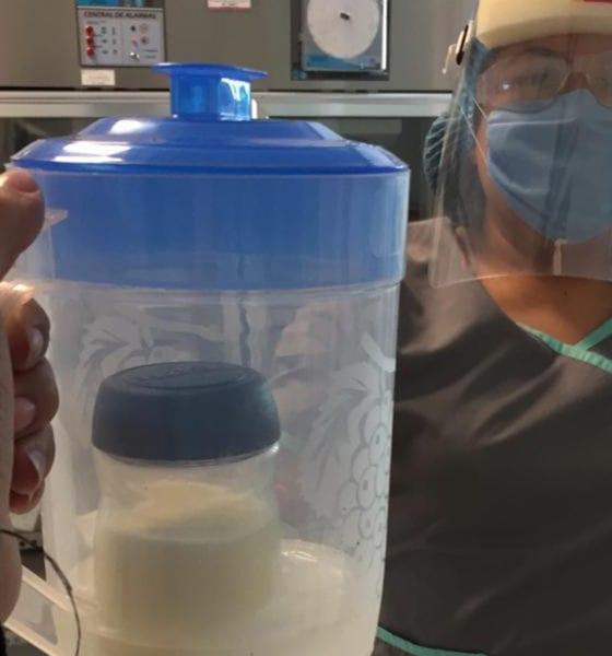 Captan litros de leche para bebés con madres diagnosticadas con covid-19