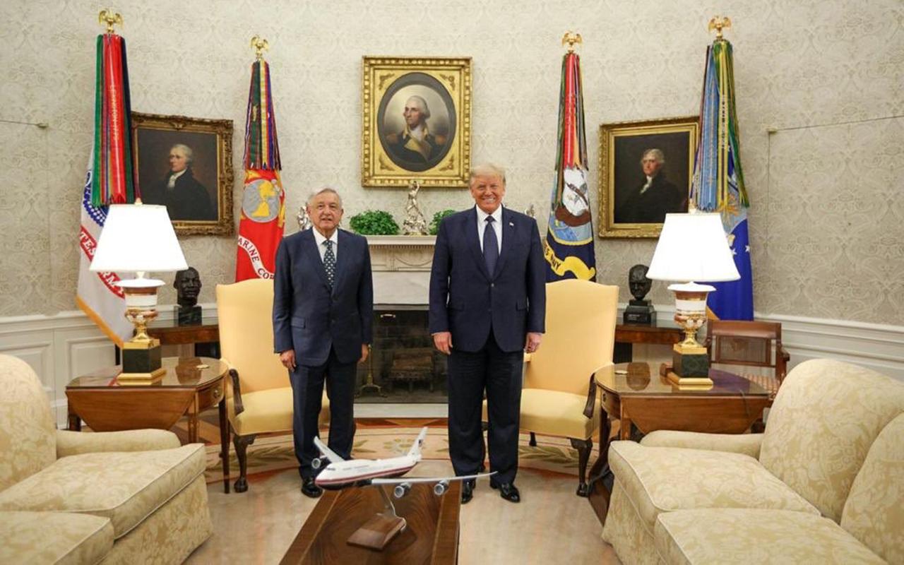 Dialogan López Obrador y Trump en la Casa Blanca