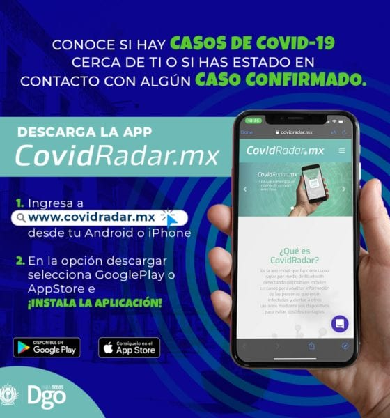 Aplicación para detectar casos covid-19: Foto: Twitter
