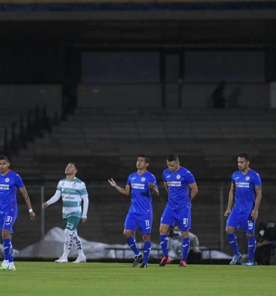 Cruz Azul le pegó a Santos. Foto: Cortesía club Cruz Azul