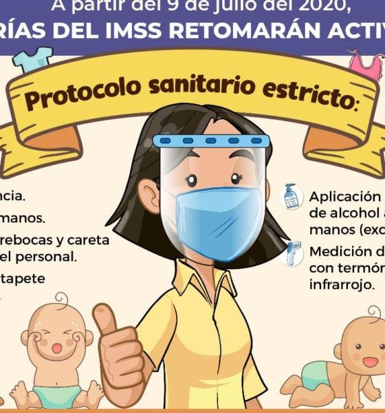 Guarderías del IMSS retoman actividades con un protocolo sanitario estricto