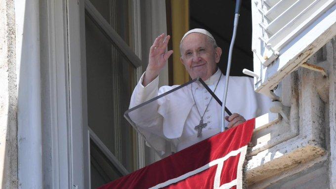 Papa Francisco pude un alto al fuego. Foto: Twitter Vatican News