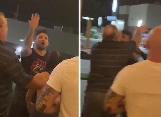 Peleador de la UFC golpeó a anciano. Foto: Twitter