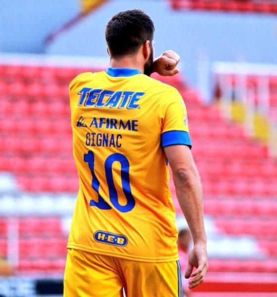 Tigres golea a Necaxa. Foto: Liga MX