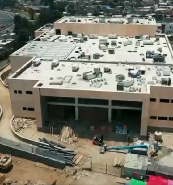 Derrumbe en nuevo Hospital de Topilejo deja varios heridos