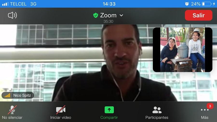 Nicolás Spitznagel vía Zoom
