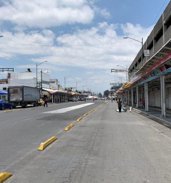 Vecinos y comerciantes sanitizan calles de Tepito