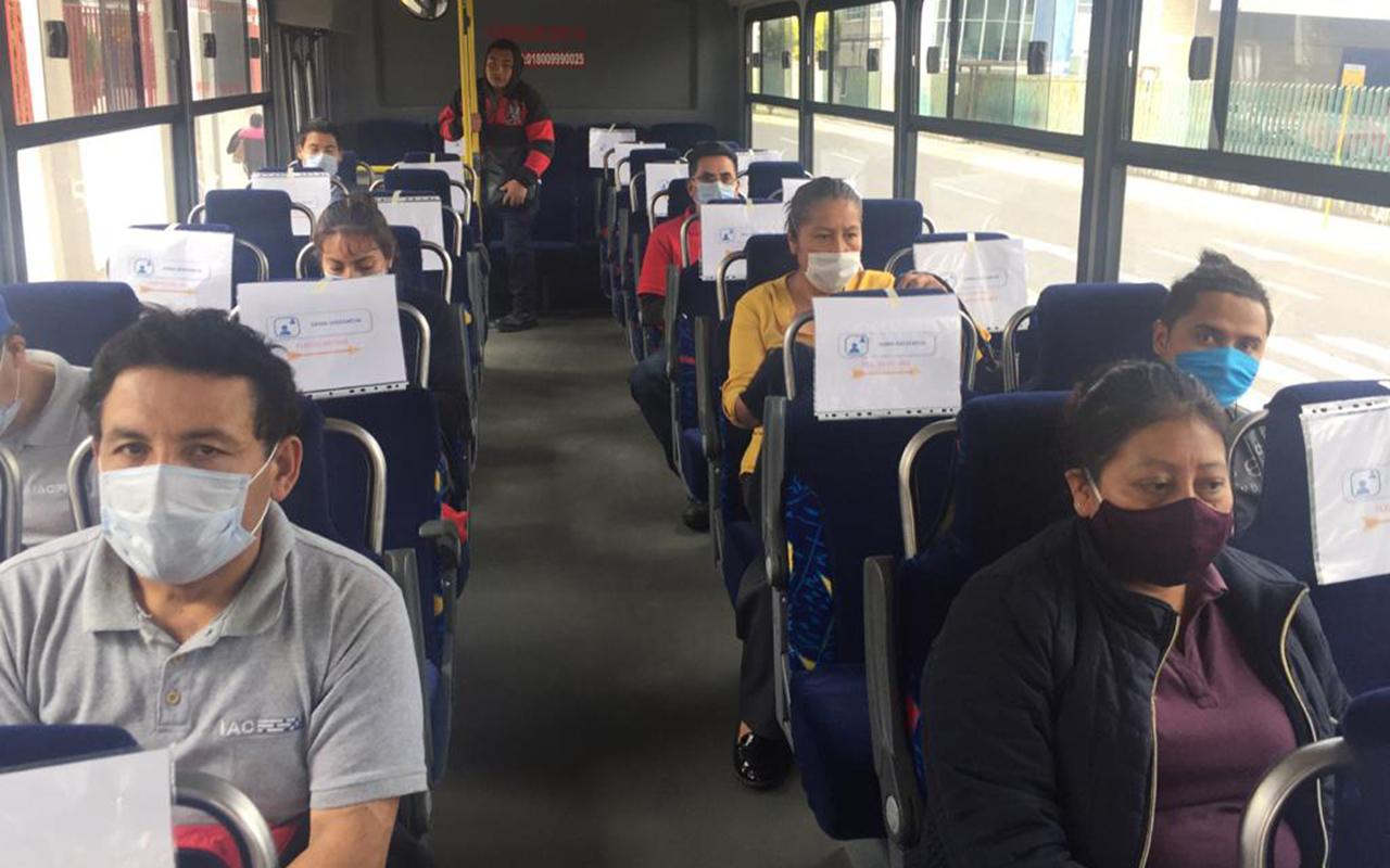 El transporte público del Edomex operará al 80% de su capacidad