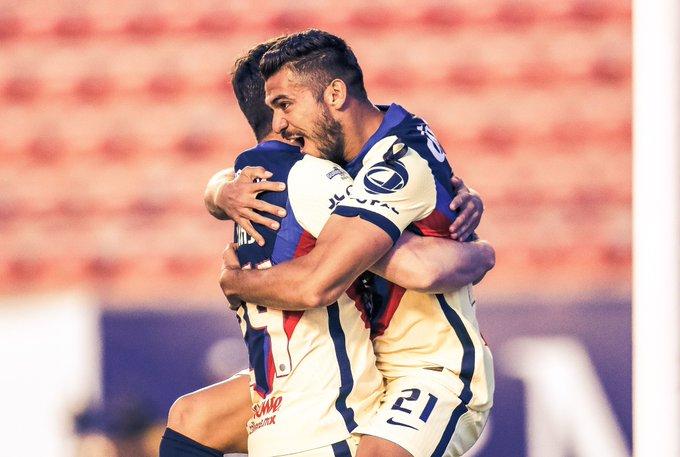 América le pegó a San Luis. foto: Club América
