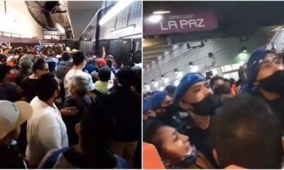 Covid-19 no asusta a usuarios del metro Pantitlán. Foto: Twitter