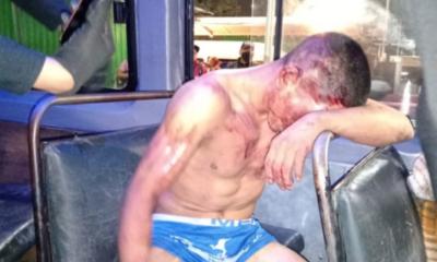 Ladrón fue golpeado. Foto: Twitter