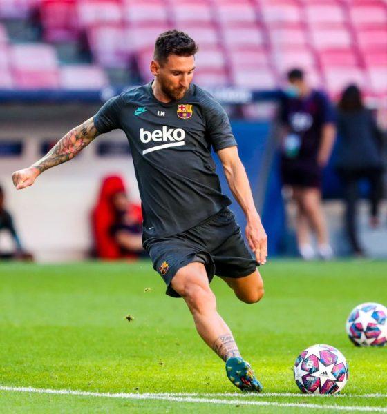 Messi cumple su amenaza. Foto: Twitter Barcelona