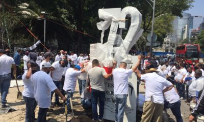 Nuevo antimonumento en Paseo de la Reforma. Foto: Israel Lorenzana