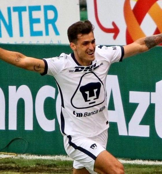Pumas le pega al Atlas. foto: Liga MX