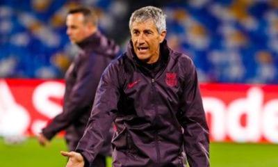 Técnico del Barcelona sin temor a ser despedido. Foto: Twitter Quique Setién