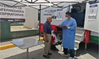 Unidades médicas móviles detectan posibles contagios de Covid