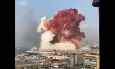 Fuerte explosión en Beirut (De Twitter)