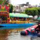 Policía Ribereña vigila que se cumplan medidas sanitarias en embarcaderos de Xochimilco